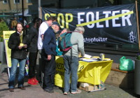 Stand STOP-Folter-Kampagne